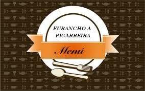 Logo del menú en el furancho de la Pigarreira