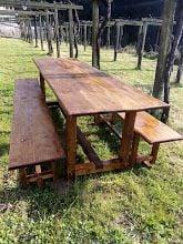 Las mesas del furancho de la Pigarreira